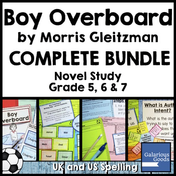 boy overboard worksheets  teaching resources  teachers pay teachers boy overboard novel study bundle boy overboard novel study bundle