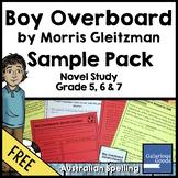 Boy Overboard Novel Study Sample Pack