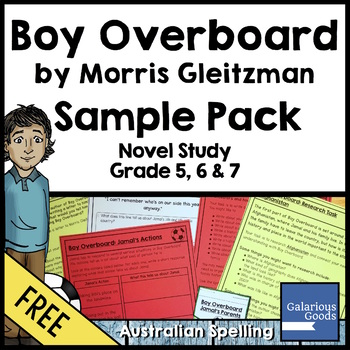 Boy Overboard Novel Study Sample Pack