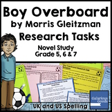 Boy Overboard Novel Study: Research Tasks