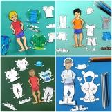 Boy Paper Dolls - All Seasons