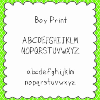 Boy Print Font {personal and commercial use; no license needed}