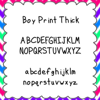 Boy Print Thick Font {personal and commercial use; no license needed}