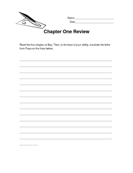 Boy: Reading and Writing Packet
