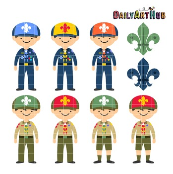 Boy Scouts Clip Art - Great for Art Class Projects!