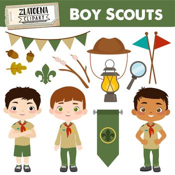 Boy Scouts Clip Art {Zlatoena Cliparts}