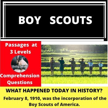 Boy Scouts Differentiated Reading Passage Feb 8