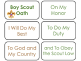 Boy Scouts themed Flash Cards.