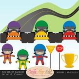 Boy Street Racers, Car Drivers, Race Car Clipart - Teacher