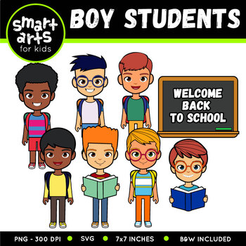 Boy Student Digital Clip Art