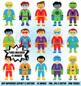 Boy Superhero Clipart Clip Art, Boy Superheroes Clip Art Clipart