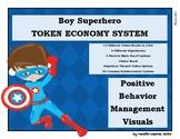 Boy Brown Hair Superhero Token Economy Positive Behavior Management Reward Chart
