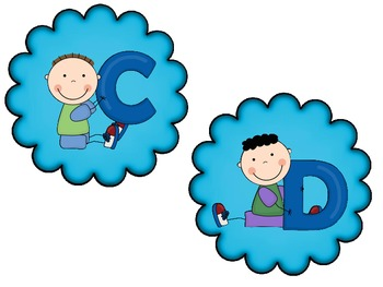 Boy Themed ABCs - Great For Word Walls!