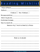 Boy Themed Reading Log + Reading Wishlist