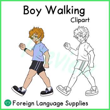 Boy Walking (CLIPART)