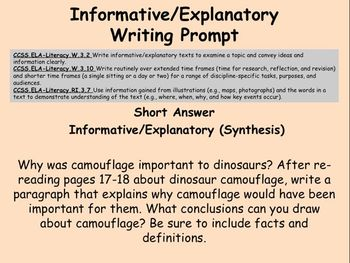 Boy Were We Wrong About Dinosaurs! Comprehensive Literacy Unit (Power Point)