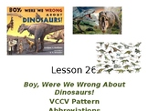 Boy, Were We Wrong About Dinosaurs PowerPoint Activities w