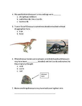Boy, Were We Wrong About Dinosaurs comprehension test