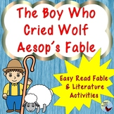 The  Boy Who Cried Wolf Aesop Fable Activities Great for ESL Gen ED