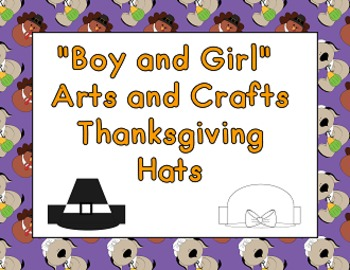 Boy and Girl Arts and Crafts Thanksgivng hats