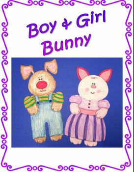 Boy and Girl Bunny Art Project