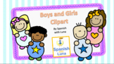 Boy and Girl FREE Clipart by Spanish with Luna
