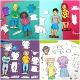 Boy and Girl Paper Dolls for All Seasons - Spring, Summer,