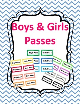 Boy and Girl Passes