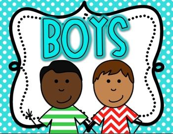 Bathroom Signs For Kindergarten boy and girl restroom signs bright polka dottricia lyday   tpt