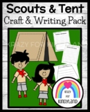 Boy and Girl Scouts / Campers with Tent Craft and Writing for K (Camping)