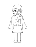 Boy and Girl Superhero Coloring Pages