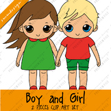 Clipart FREEBIE - boy and girl
