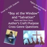 Boy at the Window and Salvation Cross-Genre Comparison Unit