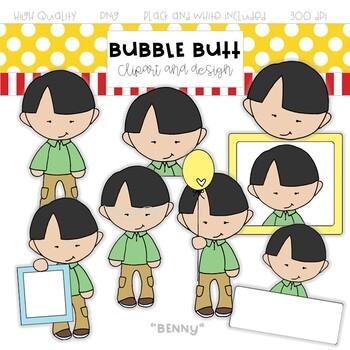 Boy clip art Benny - by Bubble Butt clip art and design