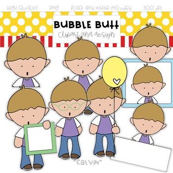 "Boy clip art ""Calvin"" by Bubble Butt clip art and design"