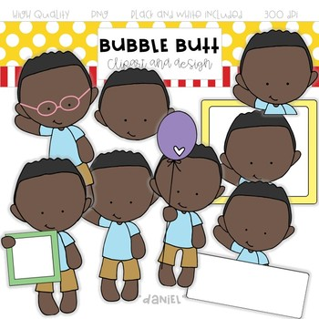"Boy clip art ""Daniel"" by Bubble Butt clipart and design"