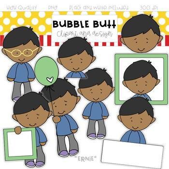 Boy clip art Ernie by Bubble Butt clip art and design