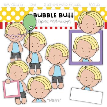 "Boy clip art ""Hans"" by Bubble Butt clip art and design"