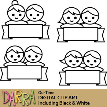 Boy girl clip art (kids clipart)