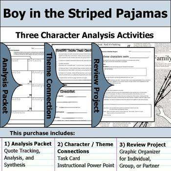 Boy in the Striped Pajamas - Character Analysis Packet, Theme, & Project
