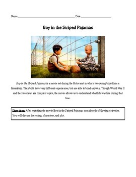 Boy in the Striped Pajamas Question Set (WWII & Holocaust)