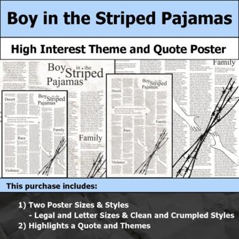 Boy in the Striped Pajamas - Visual Theme and Quote Poster for Bulletin Boards