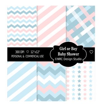 Boy or Girl Baby Shower Paper Pack
