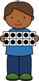 Boy with Ten Frames Clip Art Freebie