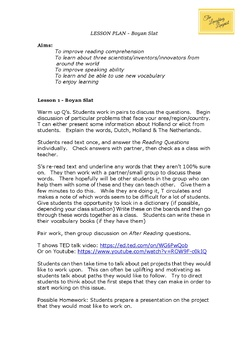 Boyan Slat - ESL Reading Worksheet - TED Talks Worksheets