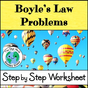 Boyle's Law Problems - Step by Step Worksheet