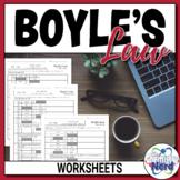 Boyle's Gas Law Worksheets | Print | Digital | Self-Gradin