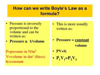 Boyle's Law (General Physics Review) - Handout / Study Aid
