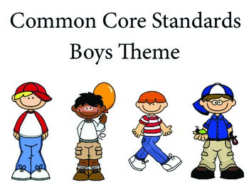 Boys 1st grade English Common core standards posters
