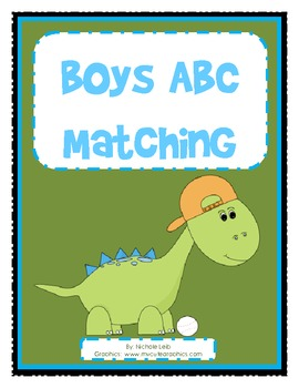 Boys ABC Matching - Uppercase and Lowercase